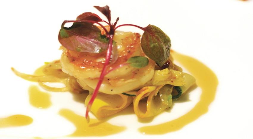Sambuca grilled squid, pickled fettucine (2)