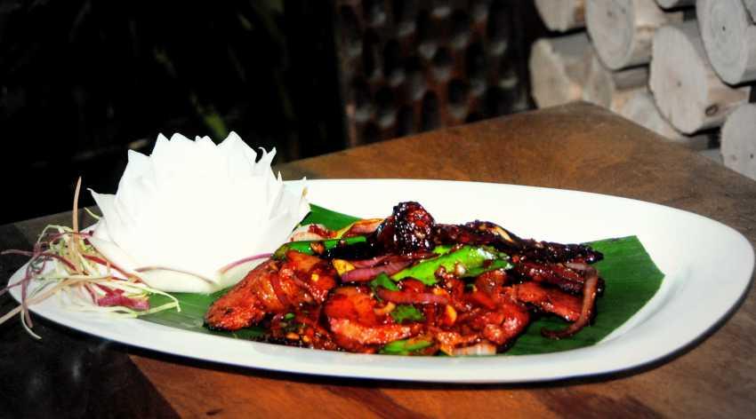 Smoked Pork with Naga chilli