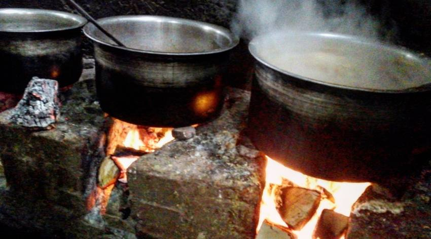 The best biryani is always cooked in large quantities and on a firewood stove
