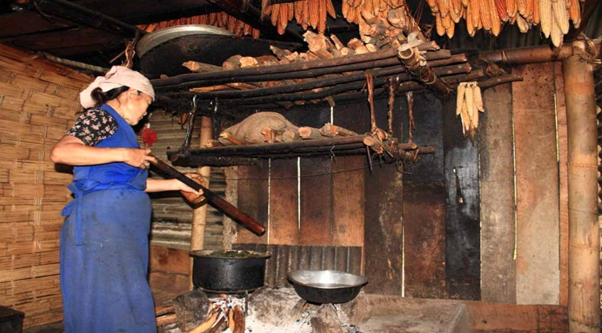 a traditional kitchen- Sikkim food trail