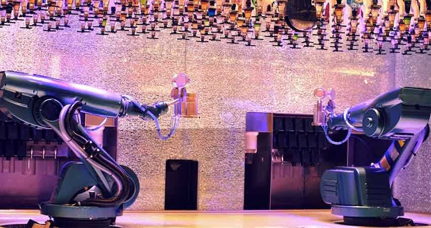 This bar manned by robots is just too cool