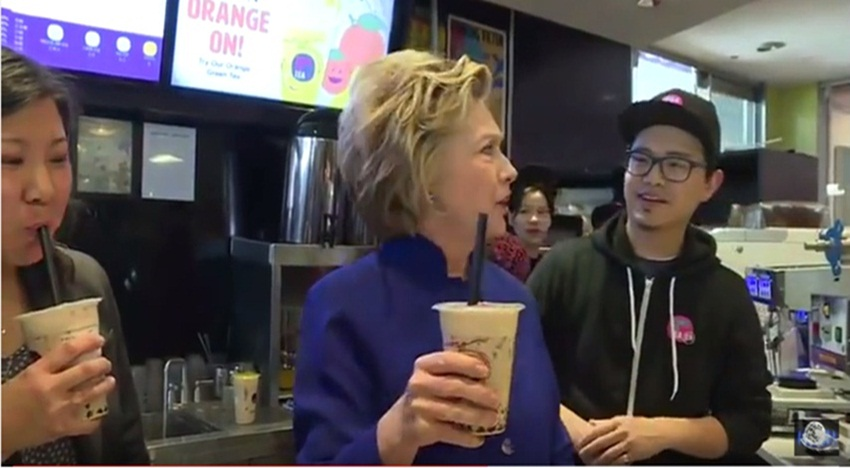 What Hilary Clinton thought of boba tea