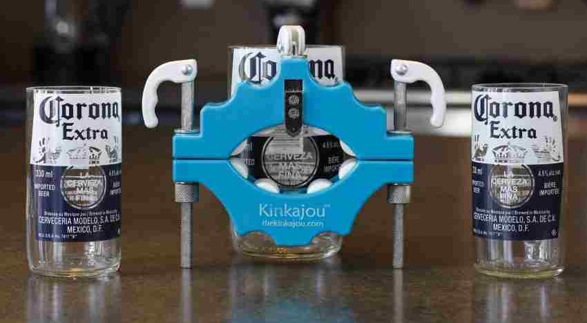A bottle-cutter that turns used bottles into glasses?Perfect