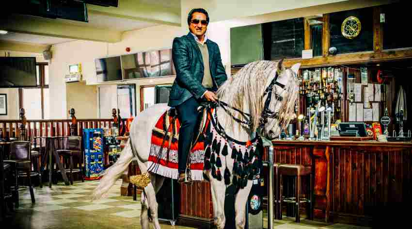 Landlord Amrick Singh Saini at the Four Ways pub. Photograph by Jagdish Patel