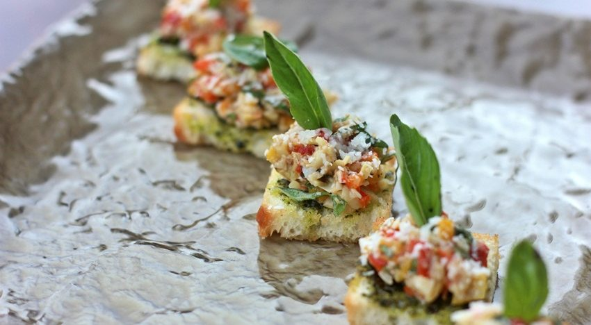 How about some artichoke bruschetta to go with your single malt?