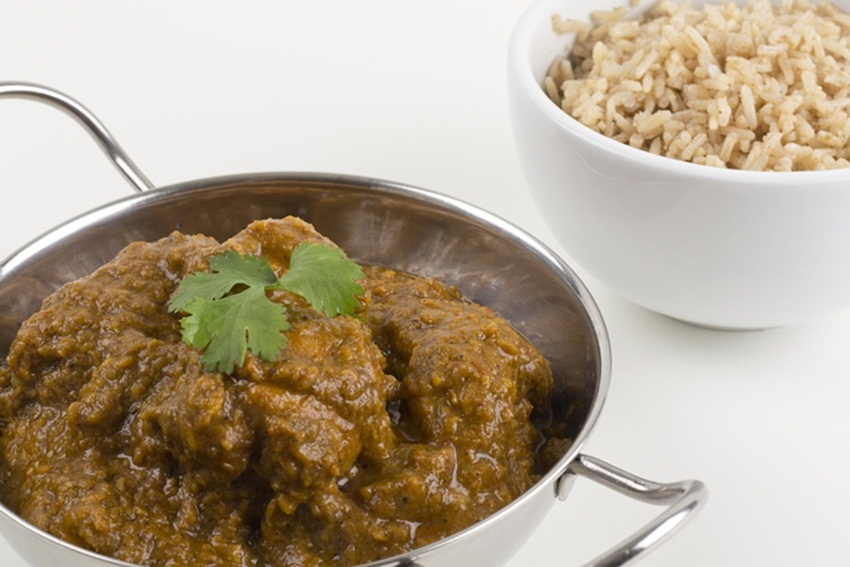 Goan Chicken Xacuti and brown rice