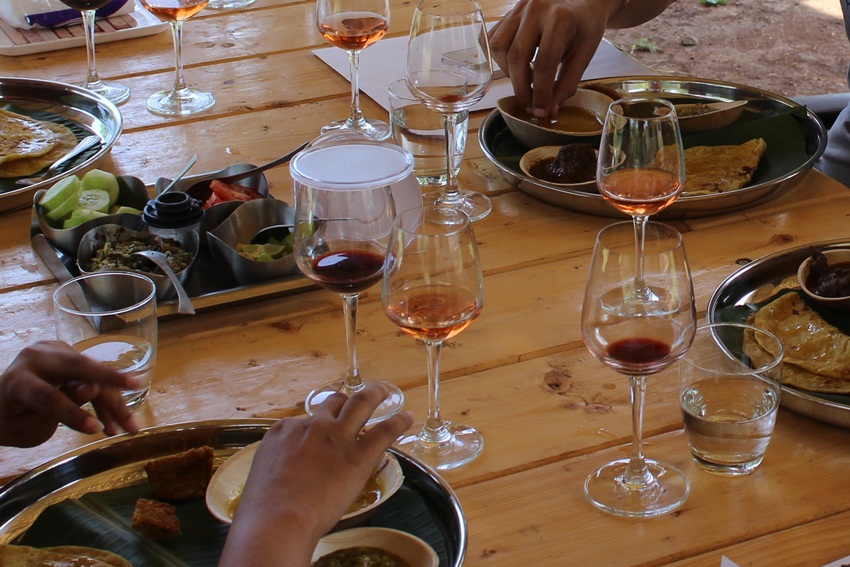 Meal with wine pairing1