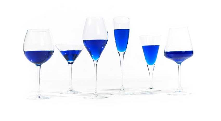 A blue wine? You must be joking