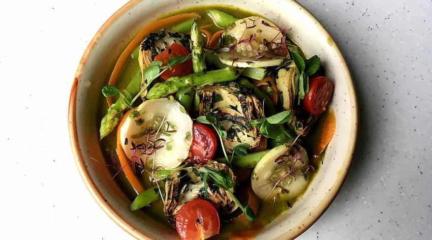Artichoke and Asparagus Agua Chile