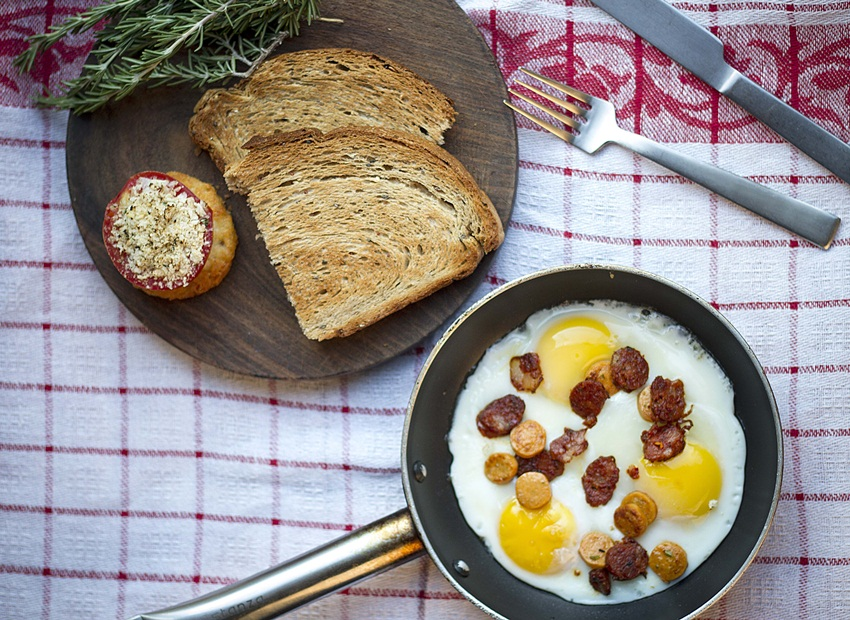SHD- Chorizo and House Sausages Skillet Fried Eggs 2