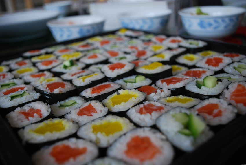 Sushi mosaic - alpha -flickr