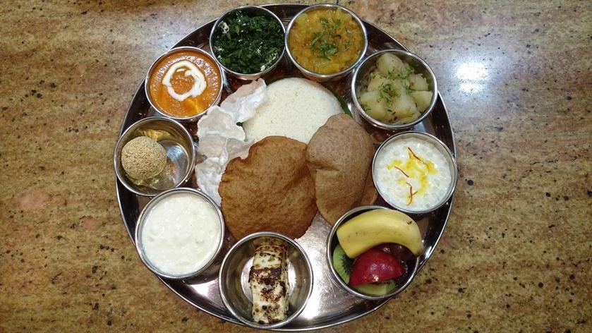 Navratri thali @ Vivanta by Taj, Surajkund