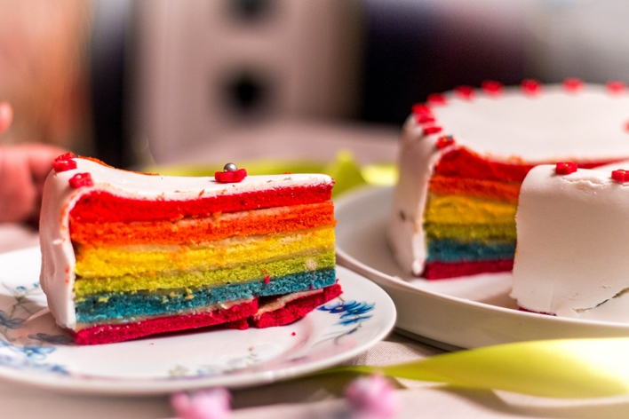 Rainbow cake - Thierry Leclerc, Flickr