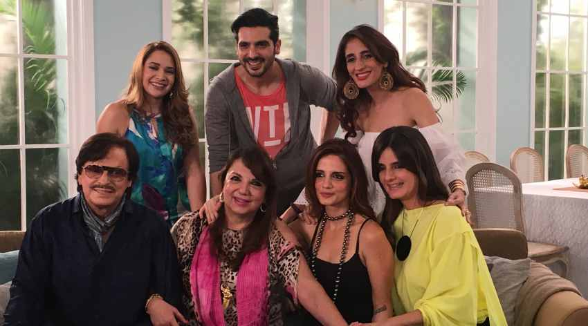 The Khan Family on the sets of the show 'Spices & Secrets with Zarine Kh...