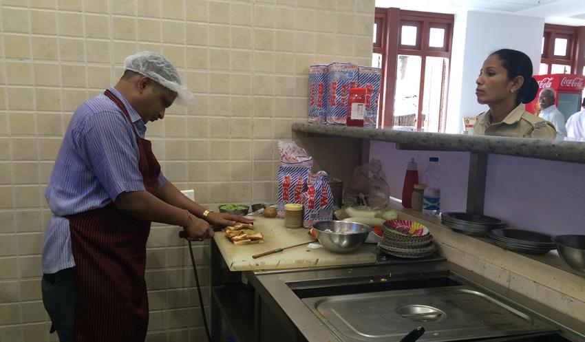 sandwich at CST canteen
