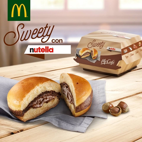 Nutella burger McD - Facebook