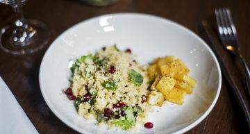Recipe: Couscous upma with pineapple compote