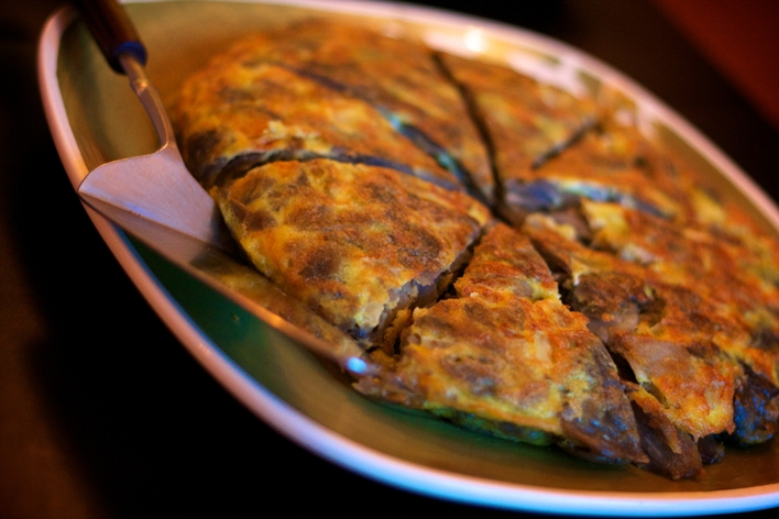 Chel's homemade Spanish purple potato omelets