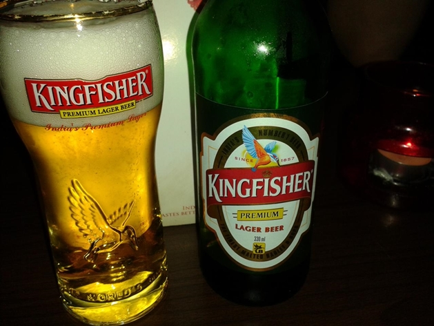 kingfisher beer - ceiling