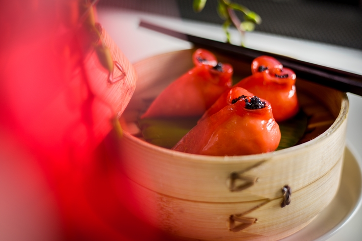 CNY Red Dumpling - yauatcha